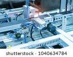 pneumatic input to robot handle ... | Shutterstock . vector #1040634784