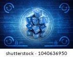 3d rendering question mark with ...   Shutterstock . vector #1040636950