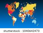 political world map | Shutterstock .eps vector #1040642473