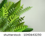 tropical leaves and plants....   Shutterstock .eps vector #1040643250