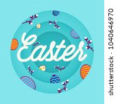 happy easter creative... | Shutterstock .eps vector #1040646970