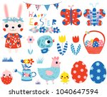 easter vector collection with... | Shutterstock .eps vector #1040647594