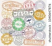 kyoto japan stamp vector art... | Shutterstock .eps vector #1040647876