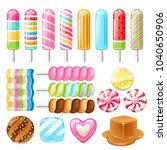 set of sweets   hard candy ... | Shutterstock .eps vector #1040650906