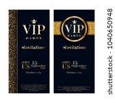 vip party premium invitation... | Shutterstock .eps vector #1040650948