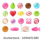 set of sweets on white... | Shutterstock .eps vector #1040651380