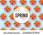 hello spring  floral greeting... | Shutterstock .eps vector #1040655394