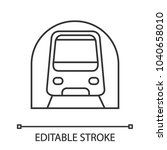 metro linear icon. subway ...   Shutterstock .eps vector #1040658010