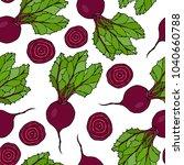 seamless background of ripe... | Shutterstock .eps vector #1040660788