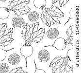 seamless background of ripe... | Shutterstock .eps vector #1040660800
