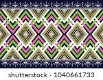 geometric ethnic pattern...   Shutterstock .eps vector #1040661733