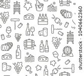 seamless pattern with wine.... | Shutterstock .eps vector #1040662360