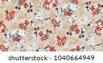 seamless floral pattern in... | Shutterstock .eps vector #1040664949