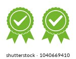approved certified icon... | Shutterstock .eps vector #1040669410
