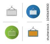 intermodal container icon. flat ... | Shutterstock .eps vector #1040669830