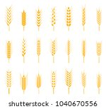 cereals icon set with rice ... | Shutterstock .eps vector #1040670556