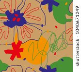 concept art chaotic pattern. | Shutterstock .eps vector #1040671249