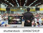 businessman giving the... | Shutterstock . vector #1040672419