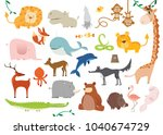 big set of 24 vector... | Shutterstock .eps vector #1040674729