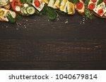 vegetarian wholegrain... | Shutterstock . vector #1040679814
