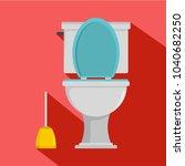 comfort toilet icon. flat... | Shutterstock .eps vector #1040682250