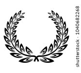 certified wreath icon. simple... | Shutterstock .eps vector #1040682268