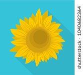 summer sunflower icon. flat...   Shutterstock .eps vector #1040682364