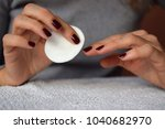 nail polish removing | Shutterstock . vector #1040682970