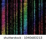 vector eps 10 rainbow glitter... | Shutterstock .eps vector #1040683213