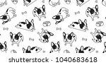 french bulldog seamless pattern ... | Shutterstock .eps vector #1040683618
