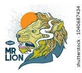 mr. lion poster   t shirt... | Shutterstock .eps vector #1040687434