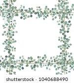vector floral card design ... | Shutterstock .eps vector #1040688490