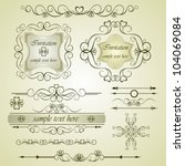 calligraphic elements vintage... | Shutterstock .eps vector #104069084