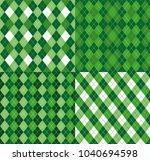 four festive irish tartan...   Shutterstock .eps vector #1040694598