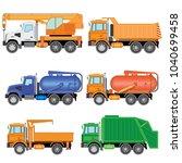 set color cars  flusher ...   Shutterstock .eps vector #1040699458
