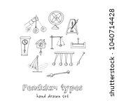 pendulum type hand drawn doodle ... | Shutterstock .eps vector #1040714428