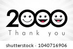 thank you 2000 followers... | Shutterstock .eps vector #1040716906