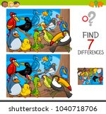 cartoon illustration of finding ... | Shutterstock .eps vector #1040718706
