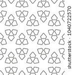 seamless geometric ornamental... | Shutterstock .eps vector #1040722570