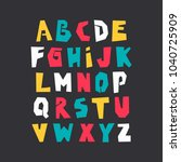 vector uppercase colorful... | Shutterstock .eps vector #1040725909