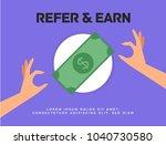refer and earn vector... | Shutterstock .eps vector #1040730580