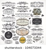 collection  calligraphic design ... | Shutterstock .eps vector #104073344