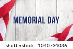 memorial day text over white... | Shutterstock . vector #1040734036