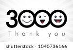 thank you 3000 followers... | Shutterstock .eps vector #1040736166