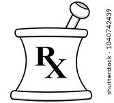 pharmacy mortar illustration  ... | Shutterstock .eps vector #1040742439