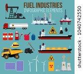 a vector illustration of oil... | Shutterstock .eps vector #1040742550