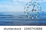 daylight saving time. dst. wall ... | Shutterstock . vector #1040743888