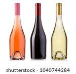 wine bottles isolated on white... | Shutterstock . vector #1040744284