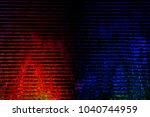 water flowing down over backlit ...   Shutterstock . vector #1040744959