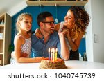 father's birthday.wife and... | Shutterstock . vector #1040745739